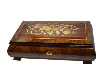 Large Italian Inlaid Classical Ballerina Box 460/FC